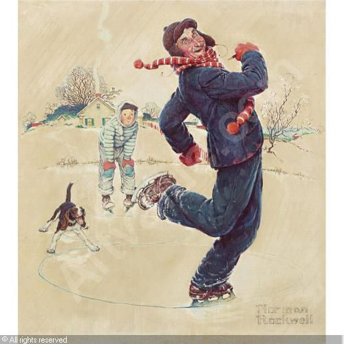 rockwell-norman-perceval-1894-grandpa-and-me-ice-skating-15