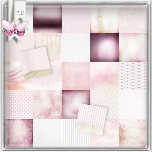 MiMiConcept- Baby Girl Pink -papers