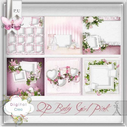 MiMiConcept- QP Baby Girl Pink -pv