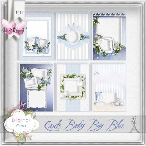 MiMiConcept- Cards Baby Boy Blue-pv