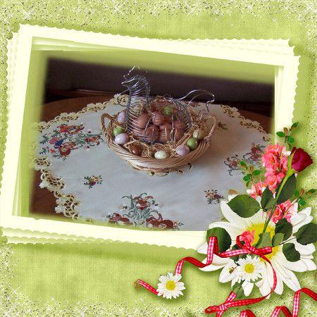 Deco Pâques table salon