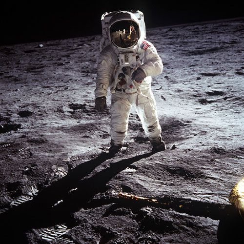 Buzz Aldrin sur la Lune (NASA)
