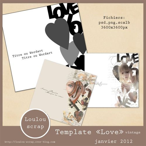 preview template Love 600