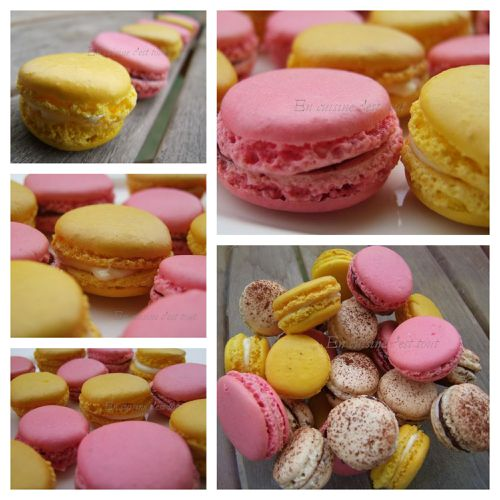 Montage macarons citron framboise