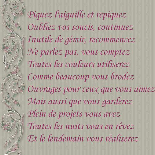 poeme broderie