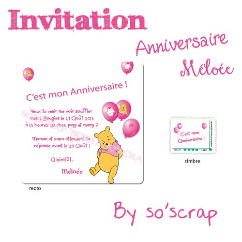 message invitation anniversaire 2 ans gosupsneek. Black Bedroom Furniture Sets. Home Design Ideas