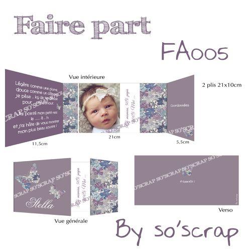 faire-part FA005