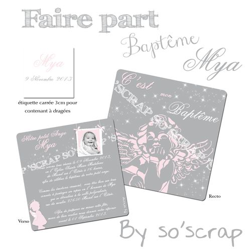 le blog d 39 efdc by so 39 scrap un faire part de bapt me et un save the date std de mariage. Black Bedroom Furniture Sets. Home Design Ideas