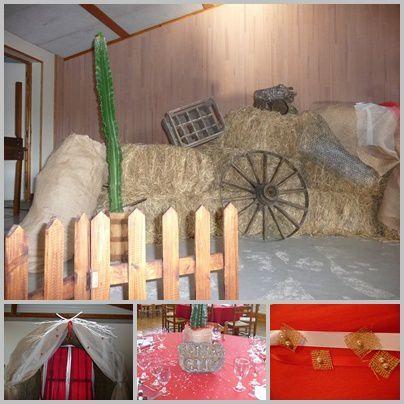 D co de mariage country western cuisine d co by maria for Decoration western country