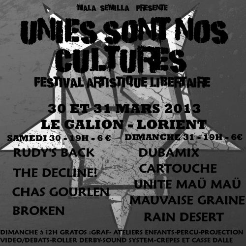 Unies sont nos cultures 2013