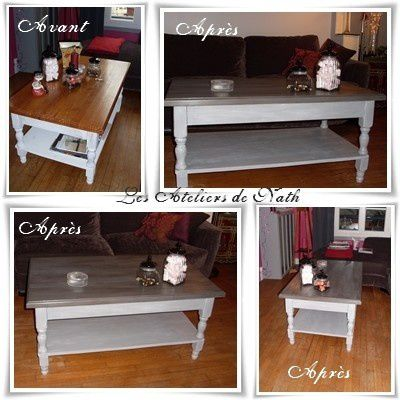 TABLE BASSE RELOOKEE