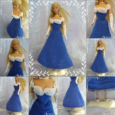 barbie robe gala bleu royal tableau