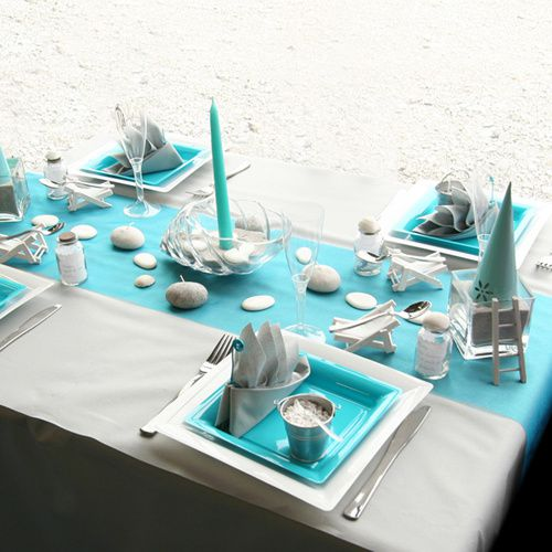 Turquoise table decorations download foto gambar for Decoration en bleu turquoise