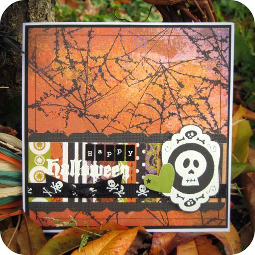 Scrap Inès Carte Card Haloween We R Memory Keepers Basic G