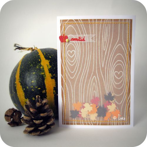 Scrap Inès carte calque tracing paper card automne fall bo