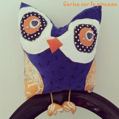 Hibou coussin
