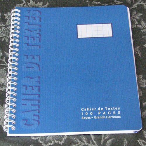 cahier de texte Corentin