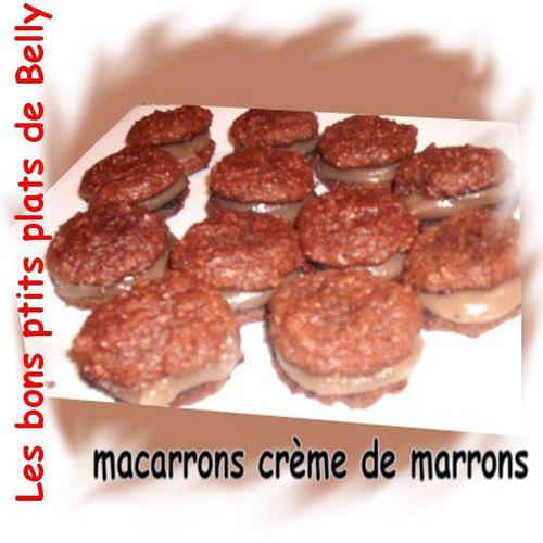 macaron creme de marrons