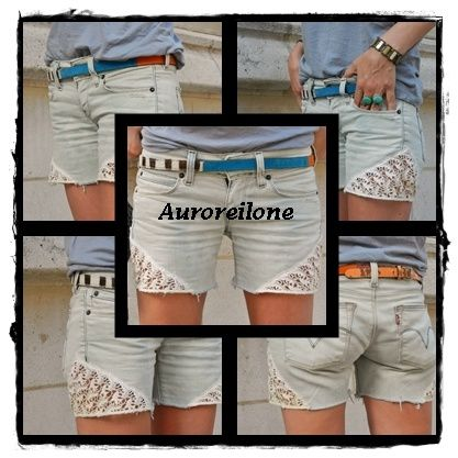 Custo short dentelle Auroreilone