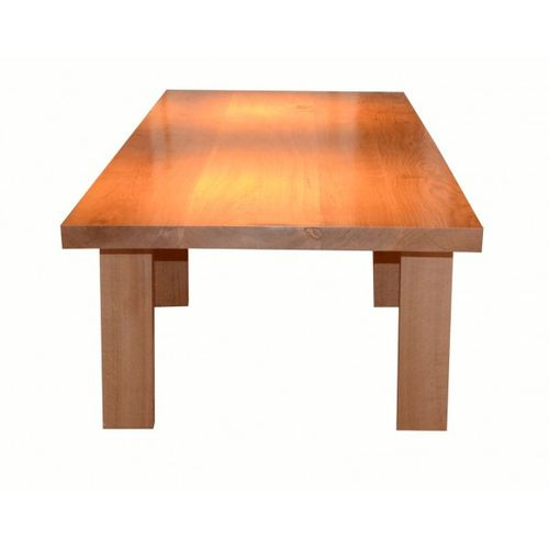 Fabrication d 39 une table contemporaine en ch ne massif meubles delor fabricant de meubles et - Ceruser une table en chene ...