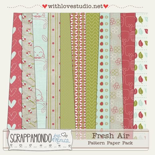 kit fresh air element by scrappamondo by monica le blog