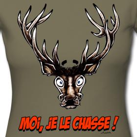tee-shirt-femme-cerf-moi-je-le-chasse design