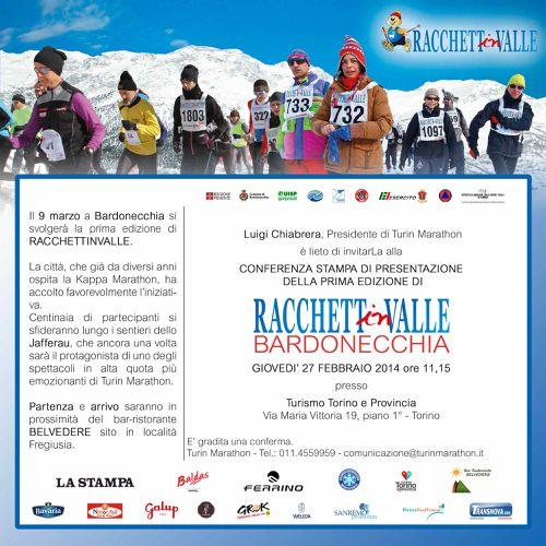 Racchettinvalle Bardonecchia (1^ ed.). Si svolgerà domenica 9 marzo, con teatro i sentieri innevati dello Jafferau