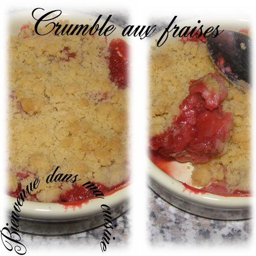 crumble aux fraises la cuisine de c c. Black Bedroom Furniture Sets. Home Design Ideas