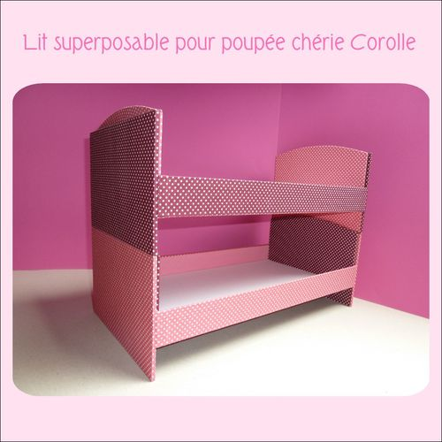 cartonnage lits jumeaux superposables pour poup es corolle le voyage du sac cadeaux. Black Bedroom Furniture Sets. Home Design Ideas