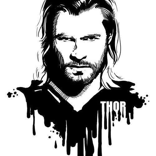 avengers in ink thor by loominosity-d54nz7m