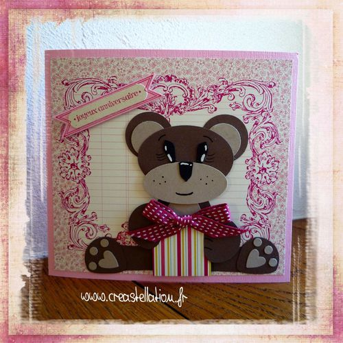 Carte anniversaire Ourson -Punch Art- Stampin'Up! (page 1)