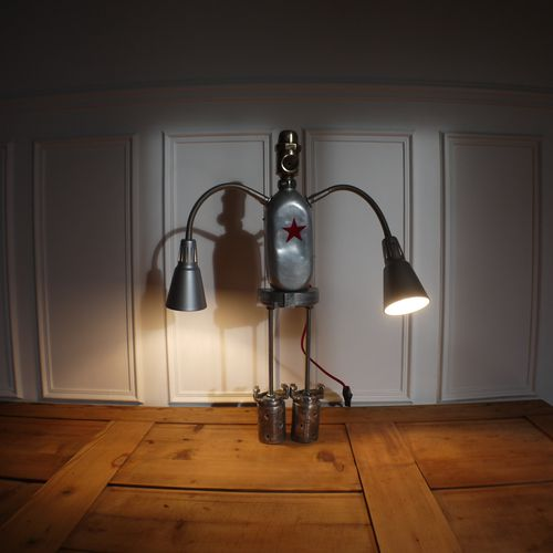 recycled lamp robot