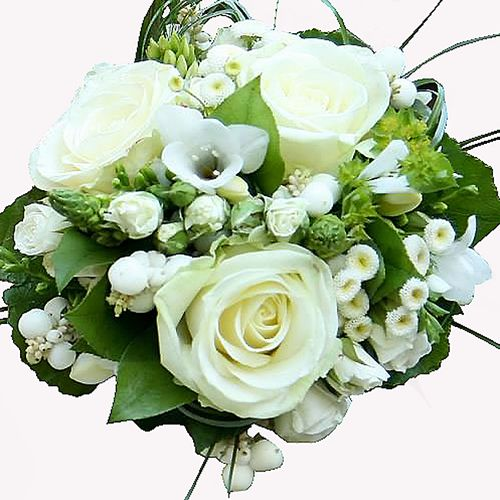 Bouquet de mari e fleurs d co for Bouquet de roses blanches