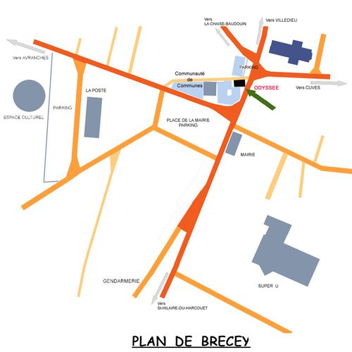 plan situation brecey ODYSSEE