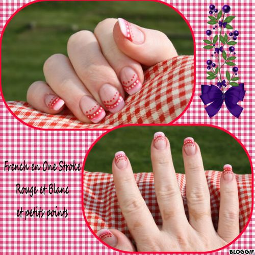 nail art morgalounette one stroke