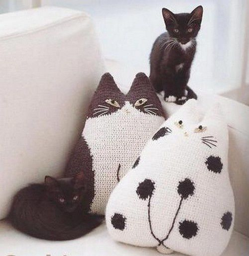chat de uncinetto et crochet..