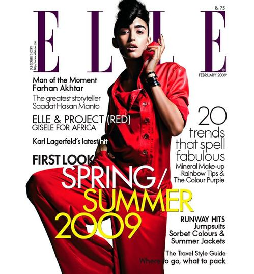 ELLE INDIA MAGAZINE - TAMARA MOSS - INDIAN MODEL - FASHION