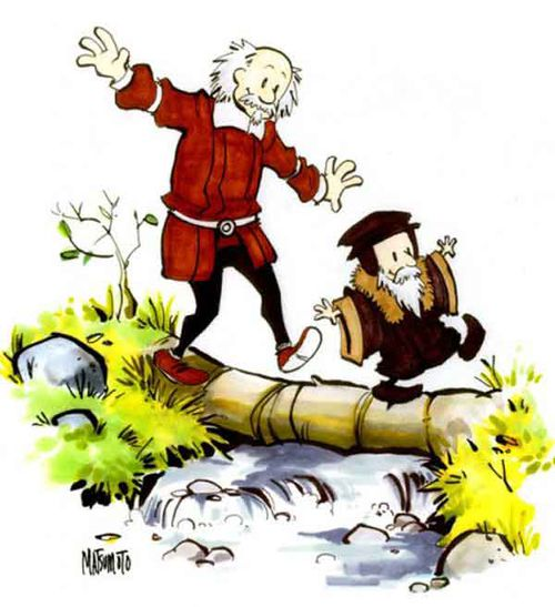 john calvin and thomas hobbes by spacecoyote
