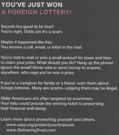 Fraud Warning, side 2