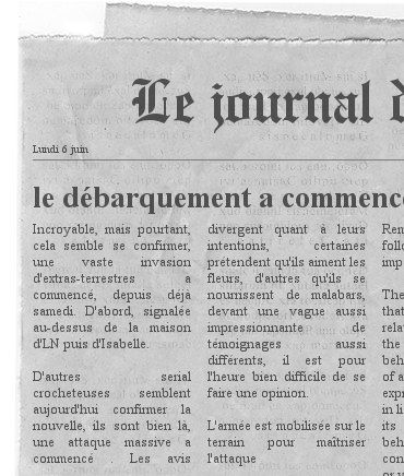 soucoupe newspaper