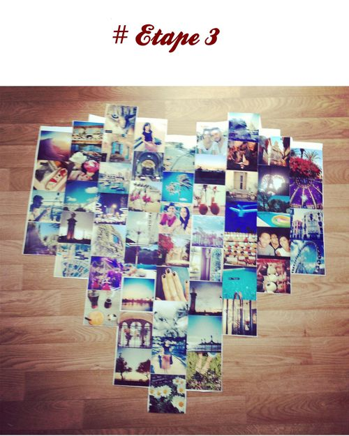 Diy d co un poster coeur de photos instagram bijoux for Decoration murale a coller