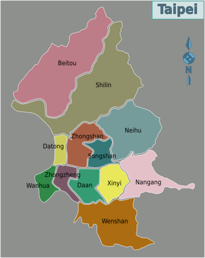 400px-Map of Taipei districts