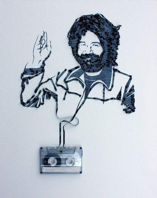 Jerry-Garcia-Live---Cassette-tape-on-canvas-2010.jpeg