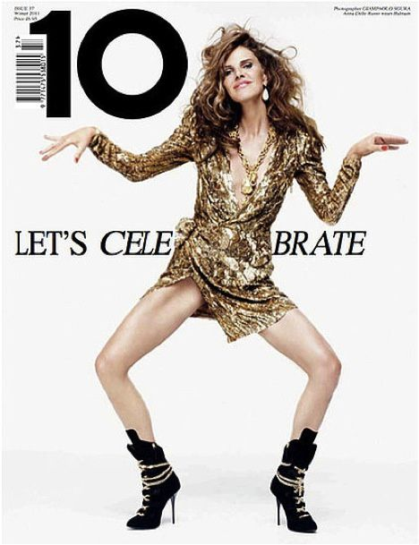 fashion ballyhoo - 8 Balmain covers Magazine lookbook gold