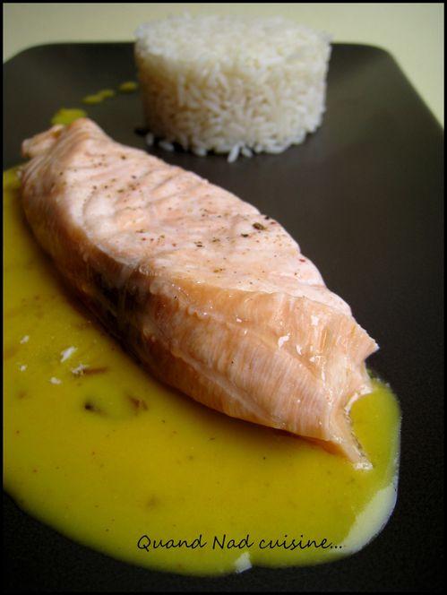saumon au safran