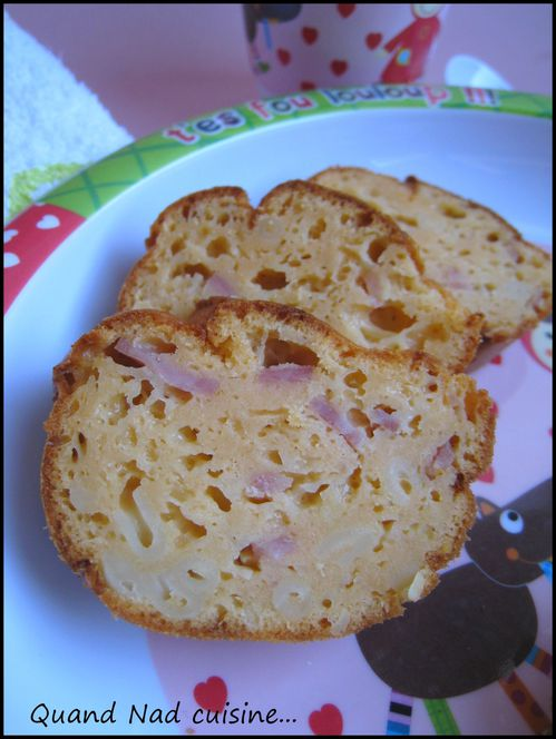 Cake coquillettes jambon1