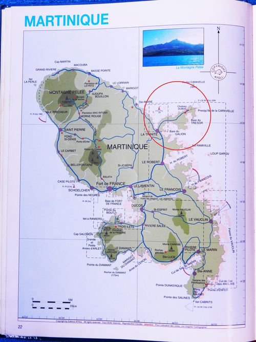 Carte Martinique Caravelle 00