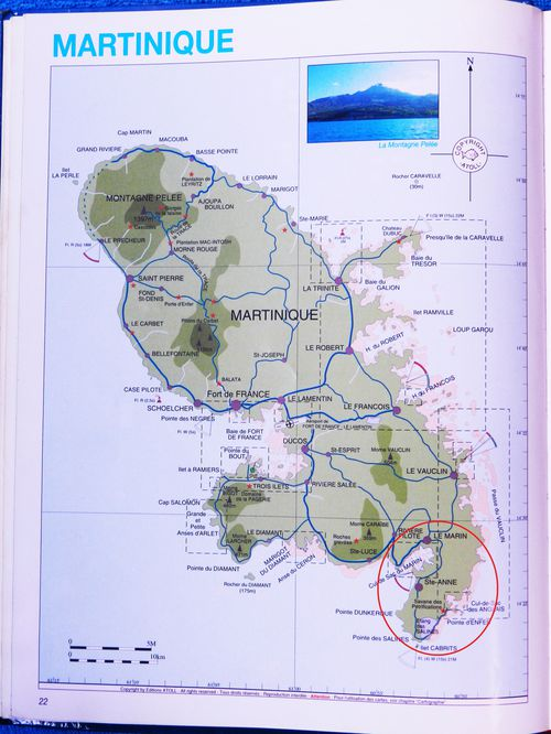 Carte Martinique S Marin Salines 00