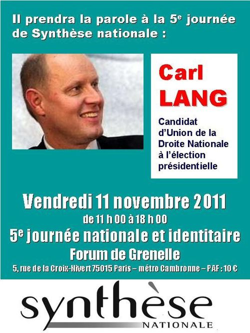 Carl Lang synthèse nationale