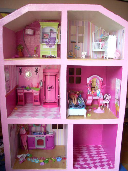 Meuble barbie en carton atelier retouche paris for Ameublement maison